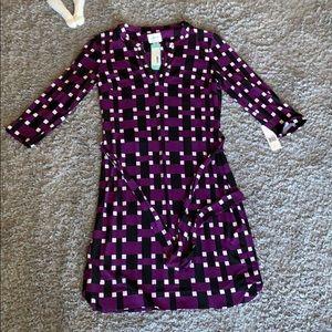 DM Collection Laurell Jersey Shirt Dress NWT